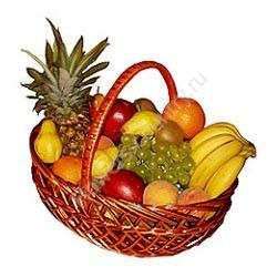 Корзина с фруктами (Ананас, Бананы, Апельсины, Киви и др.)