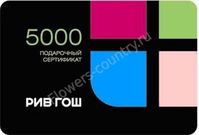 Подарочная карта рив гош на 5 000 руб.