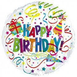Воздушный шар «Happy Birthday»