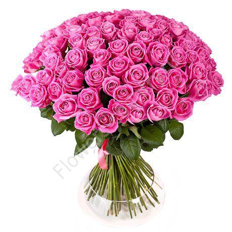 Большой букет из розовых роз