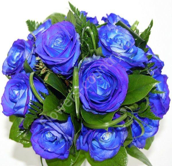 Открытка с синими розами 43